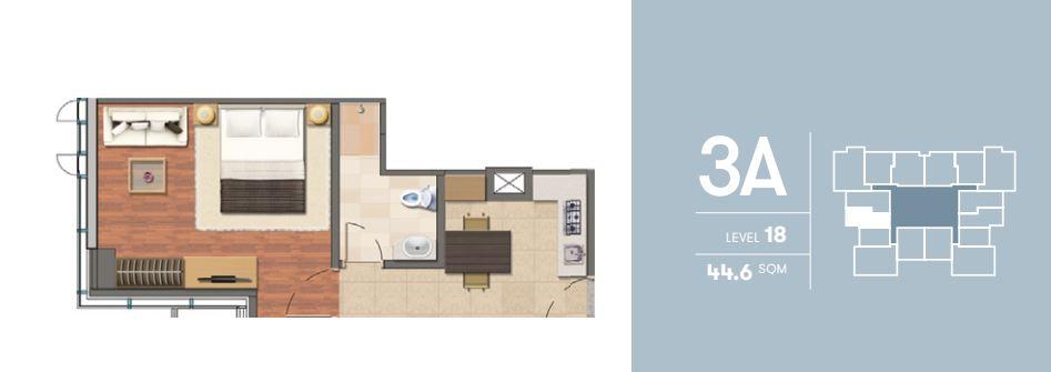 1 Bedroom 3A